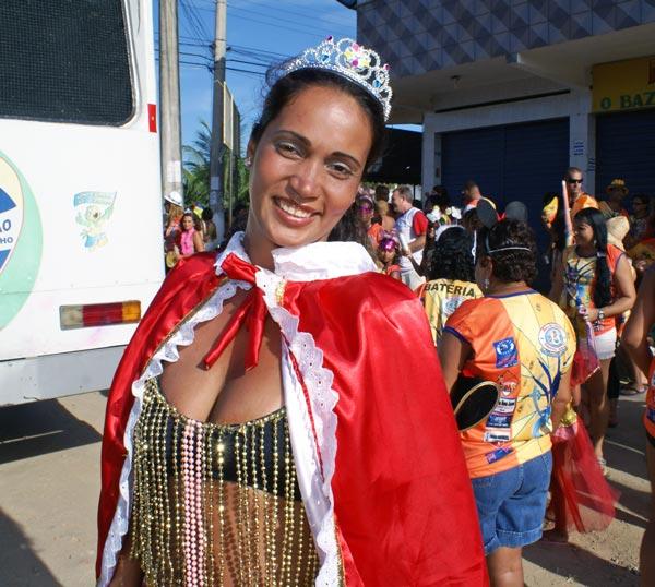 A bela rainha do carnaval de Jaconé.