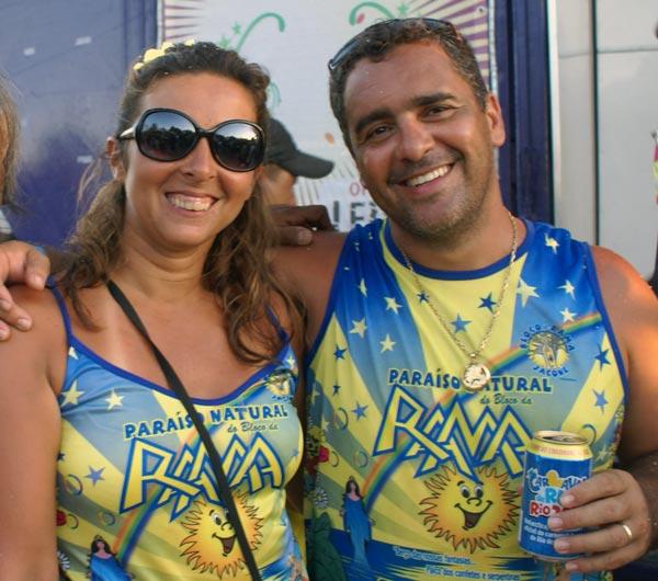 Ana Paula e Sérgio, do Bloco da Rama, de Jaconé.
