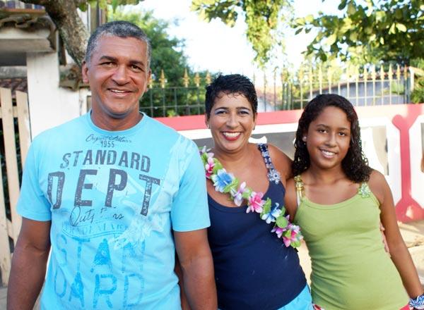 Edmilson, Cláudia e a filha