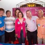 Bruno e Leomil Pinheiro, Marcia e Miguel Jeovani, e o vereador Amigo Walmir