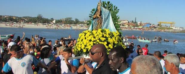 O Círio das Águas é um dos pontos altos da festa em homenagem à padroeira (Foto: Paulo Lulo)