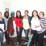 As conselheiras com a secretária da Mulher, Rosângela Borges (Foto: edimilson soares)