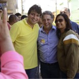 Pedro Ricardo e Garotinho em Bacaxá (Foto: Divulgação)