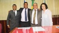 Os vereadores que compõem a nova mesa diretora da Câmara (Foto: Edimilson Soares)