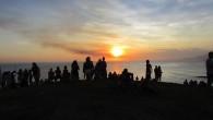 O por de sol magnífico na Praia da Vila em Saquarema  (Foto: Paulo Lulo)