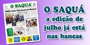 Veja as matérias do Jornal O Saquá 188 - Julho de 2015