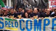 """A prefeita Franciane participou da manifestação """"Juntos pelo Comperj"""", no Rio de Janeiro (Divulgação)"""