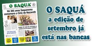Veja as matérias do Jornal O Saquá 190 - Setembro 2015