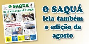 Veja as matérias do Jornal O Saquá 189 - Agosto de 2015