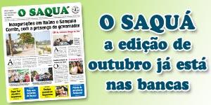 Veja as matérias do Jornal O Saquá 191 - Outubro 2015