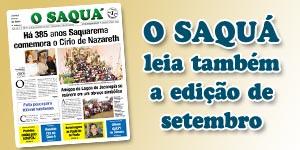 Veja as matérias do Jornal O Saquá 190 -Setembro 2015