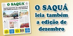 Veja as matérias do Jornal O Saquá 193 - Dezembro 2015